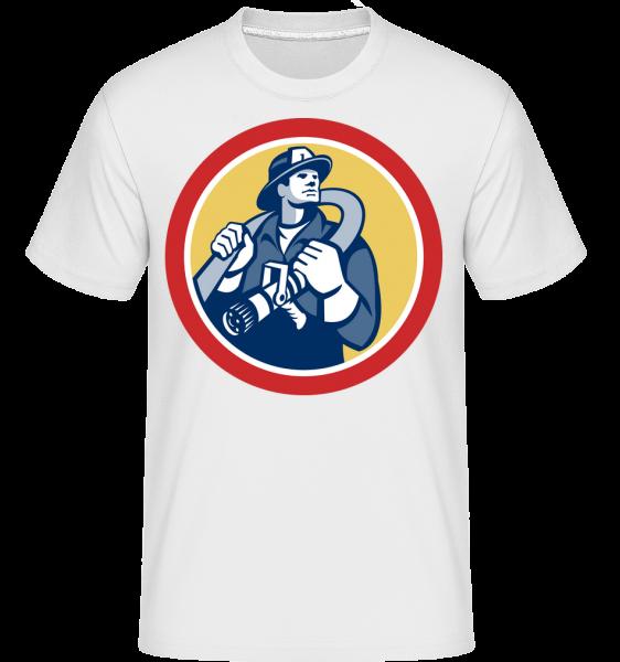 hasič Sign -  Shirtinator tričko pre pánov - Biela - Predné