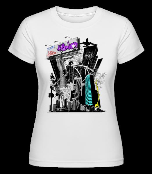 Big City Okuliarové - Shirtinator tričko pre dámy - Biela - Predné