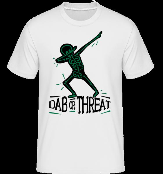 DAB alebo Threat -  Shirtinator tričko pre pánov - Biela - Predné