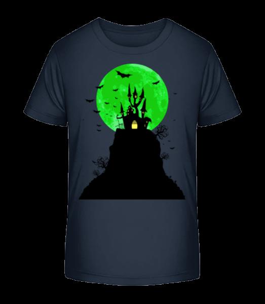ghost Castle - Detské Premium Bio tričko - Namornícka modrá - Predné