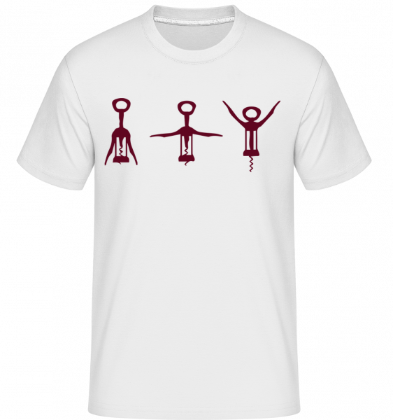 vývrtka - Shirtinator tričko pre pánov - Biela - Predné