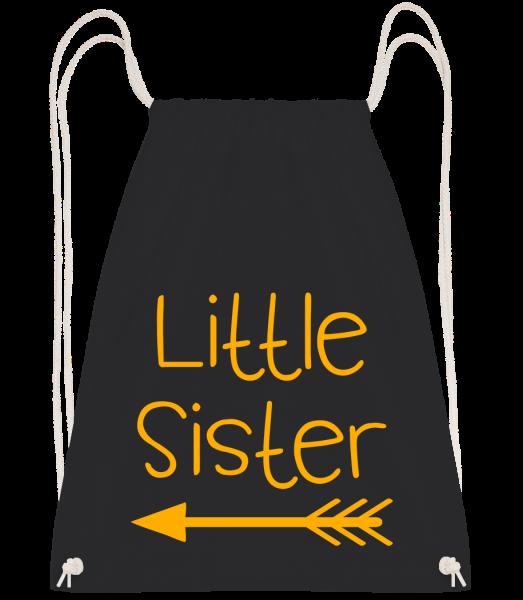 Little Sister - Drawstring batoh so šnúrkami - čierna - Predné