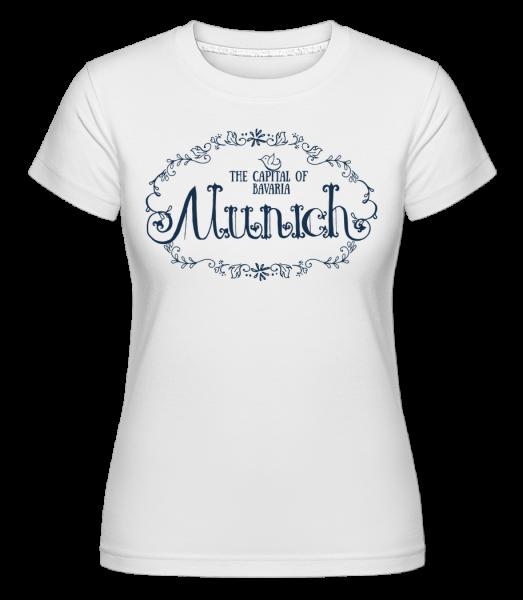 Mníchov, Nemecko - Shirtinator tričko pre dámy - Biela - Predné