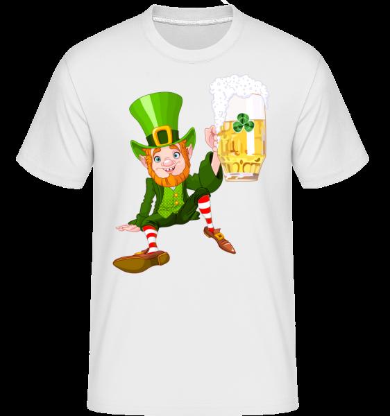 Irish Beer Logo -  Shirtinator tričko pre pánov - Biela - Predné