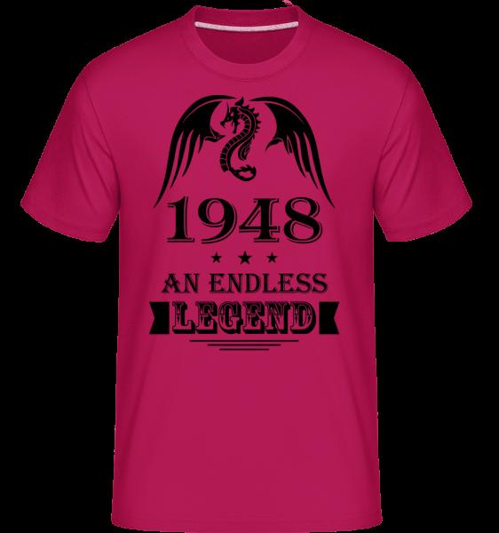 Nekonečné Legend 1948 - Shirtinator tričko pre pánov - Magenta - Predné