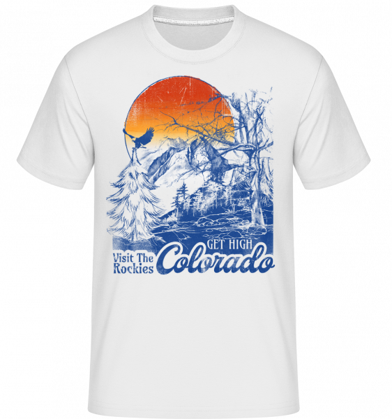 Get High Colarado -  Shirtinator tričko pre pánov - Biela - Predné