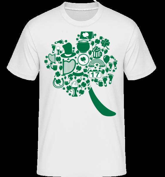 Ireland Symbols -  Shirtinator tričko pre pánov - Biela - Predné