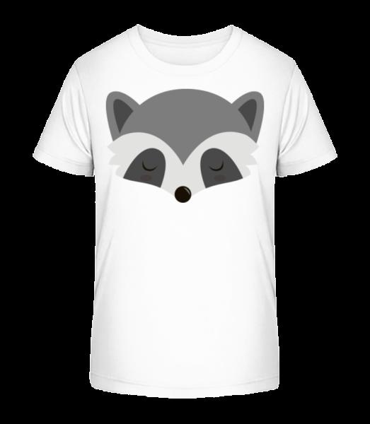 racoon Comic - Detské Premium Bio tričko - Biela - Predné