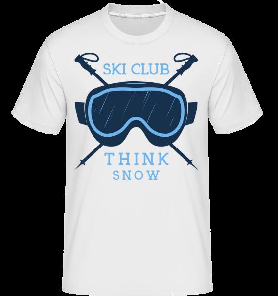 Ski Club Think sneh ikona -  Shirtinator tričko pre pánov - Biela - Predné