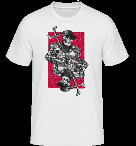 Hracie karty kostra s kríž -  Shirtinator tričko pre pánov - Biela - Predné