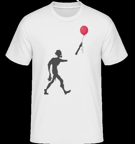 zombie Balloon - Shirtinator tričko pre pánov - Biela - Predné