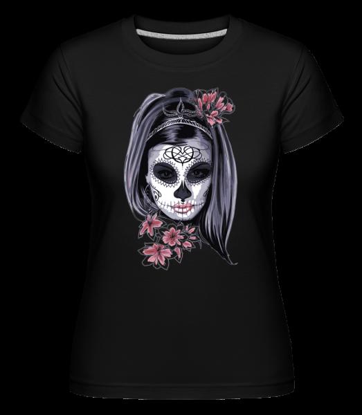 Scary Girl Mask -  Shirtinator tričko pre dámy - Čierna1 - Predné
