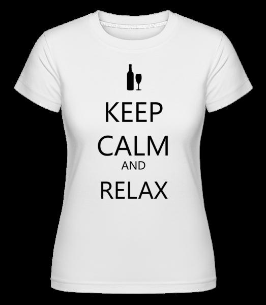 Keep Calm And Relax -  Shirtinator tričko pre dámy - Biela - Predné