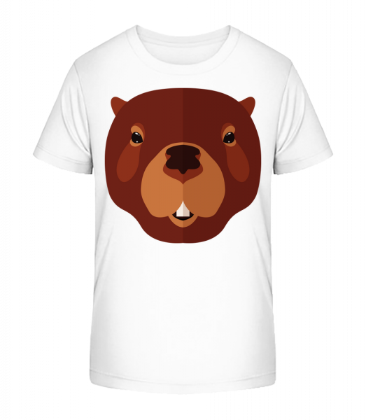 Beaver Comic - Detské Premium Bio tričko - Biela - Predné