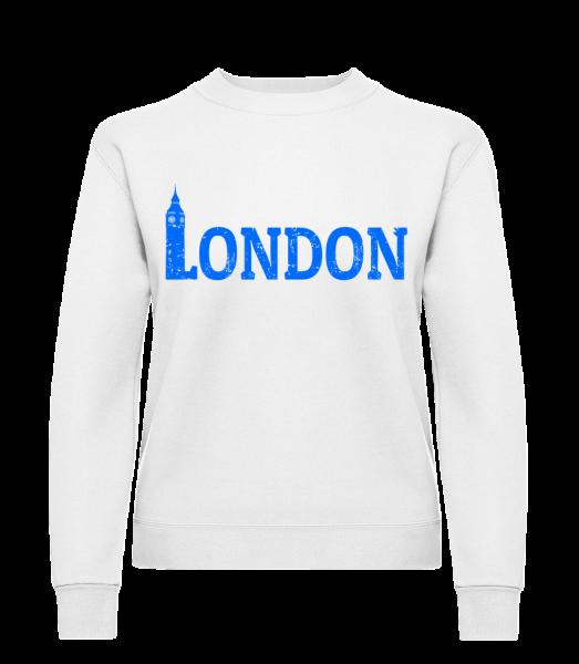 London UK - Klasická mikina pre dámy sg - Biela - Predné