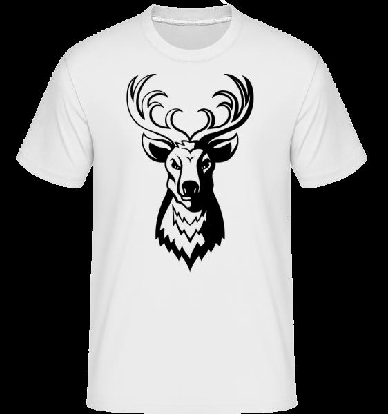 jeleň -  Shirtinator tričko pre pánov - Biela - Predné