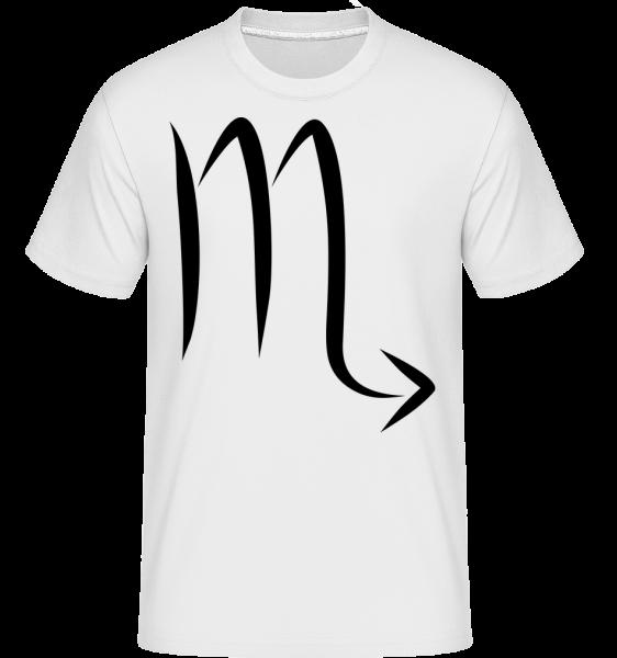 Scorpio znamenie -  Shirtinator tričko pre pánov - Biela - Predné