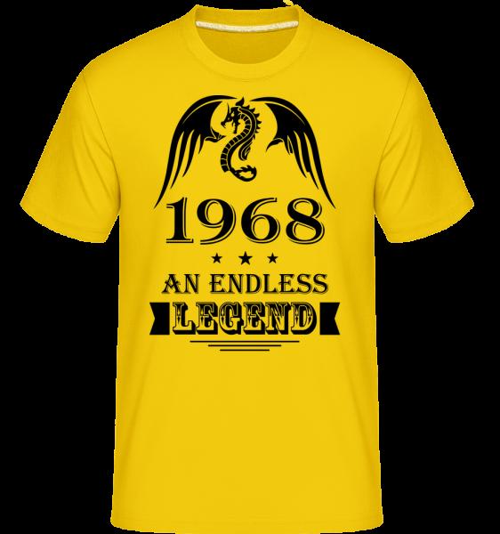 Nekonečné Legend 1968 -  Shirtinator tričko pre pánov - Zlatožltá - Predné