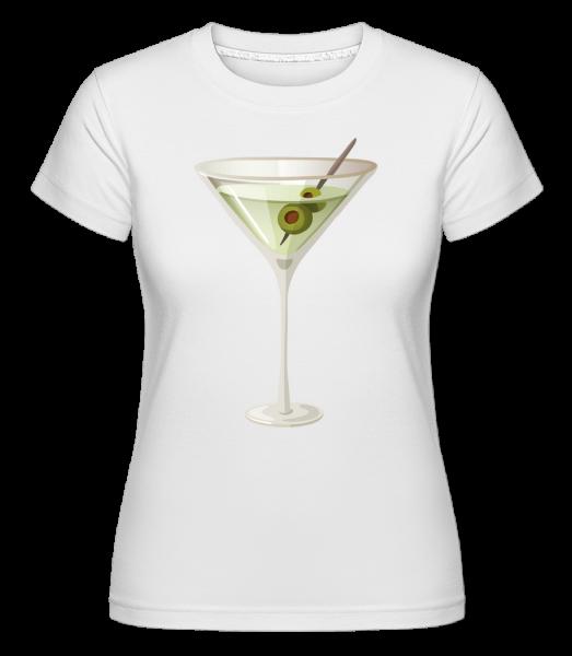 koktail -  Shirtinator tričko pre dámy - Biela - Predné