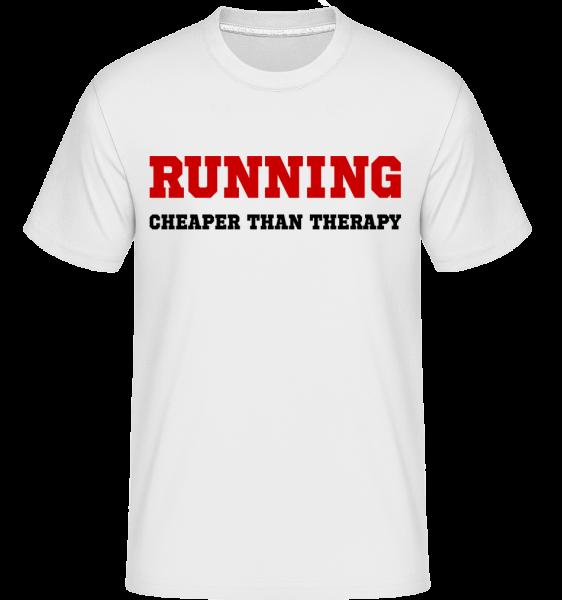 Beh - lacnejšie ako liečba - Shirtinator tričko pre pánov - Biela - Predné