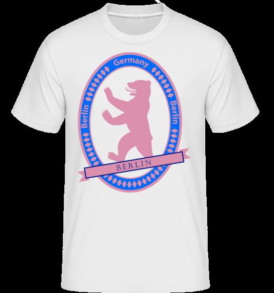 Berlin Bear Icon -  Shirtinator tričko pre pánov - Biela - Predné