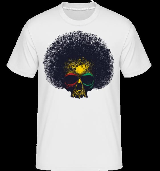 reggae Skull -  Shirtinator tričko pre pánov - Biela - Predné