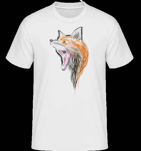 Howling Fox -  Shirtinator tričko pre pánov - Biela - Predné