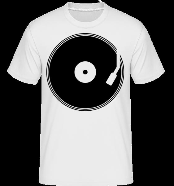 DJ Record -  Shirtinator tričko pre pánov - Biela - Predné