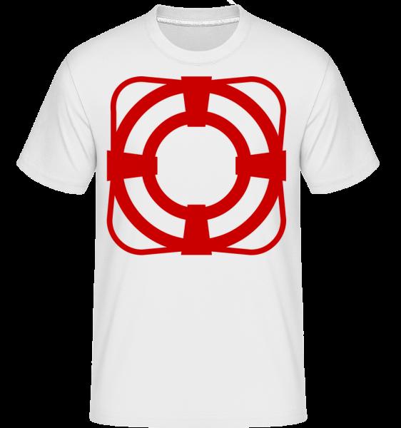 záchranný pás -  Shirtinator tričko pre pánov - Biela - Predné