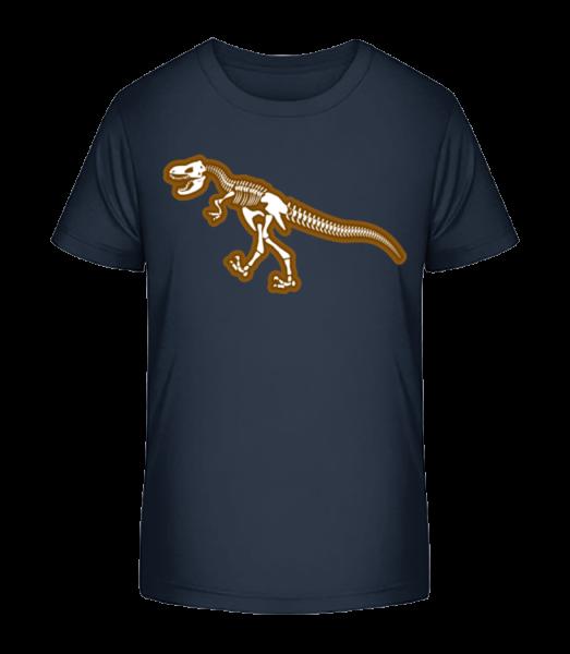 Dinosaur Skull - Detské Premium Bio tričko - Namornícka modrá - Predné