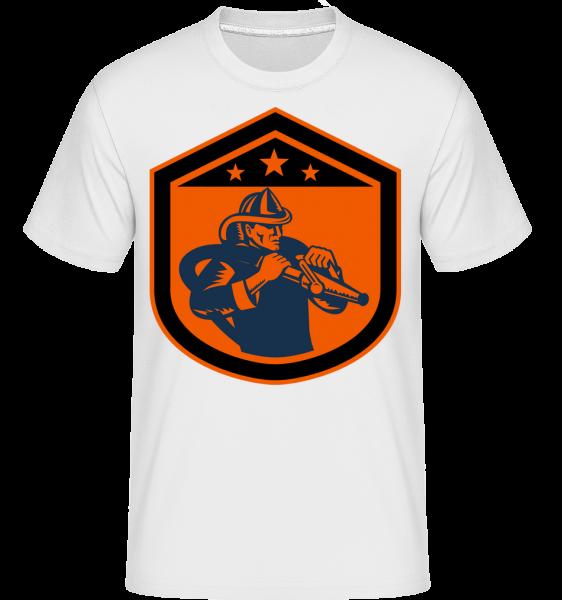hasiči Emblem -  Shirtinator tričko pre pánov - Biela - Predné