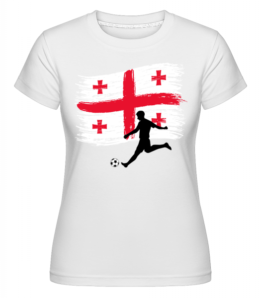 Georgia Flag Footballplayer - Shirtinator tričko pre dámy - Biela - Predné