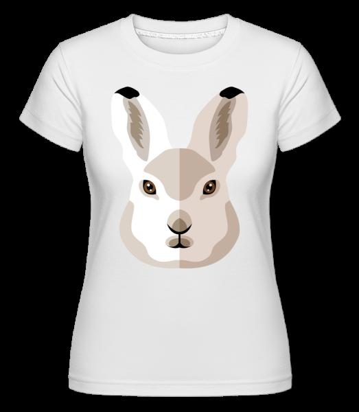 Bunny Comic Shadow -  Shirtinator tričko pre dámy - Biela - Predné