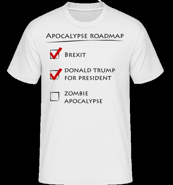 Apocalypse Roadmap -  Shirtinator tričko pre pánov - Biela - Predné