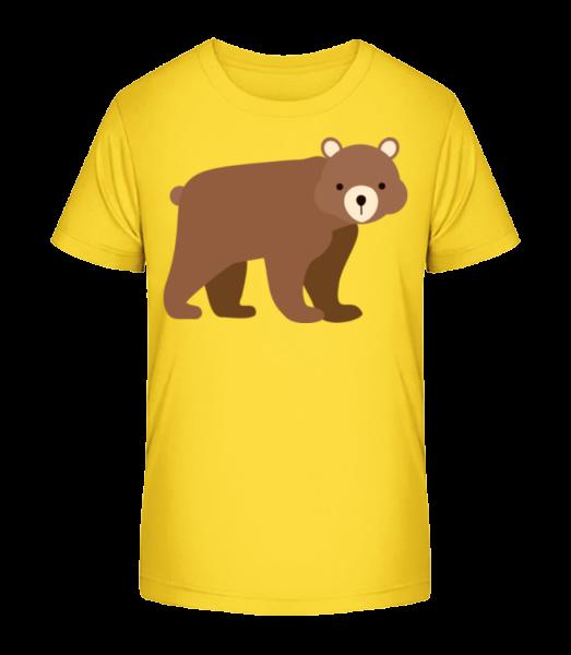 Baby Bear - Detské Premium Bio tričko - Žltá - Predné