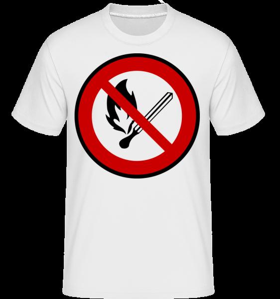 Fire Zakázané - Shirtinator tričko pre pánov - Biela - Predné