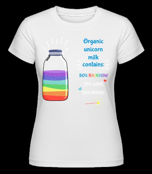 Organic Unicorn Milk -  Shirtinator tričko pre dámy - Biela - Predné