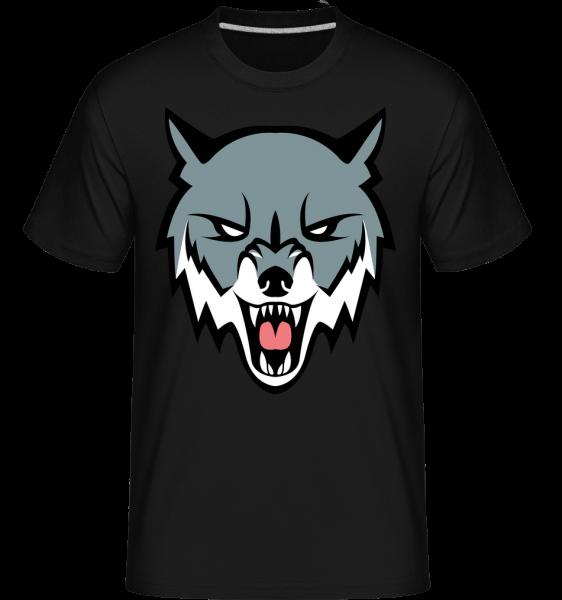 nahnevaný Vlk - Shirtinator tričko pre pánov - Čierna1 - Predné