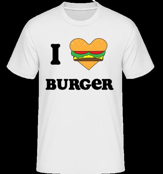 I Love Burger -  Shirtinator tričko pre pánov - Biela - Predné