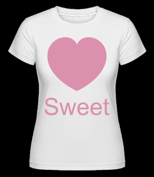 Sweet Heart -  Shirtinator tričko pre dámy - Biela - Predné