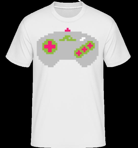 Konzola Controller Oldschool -  Shirtinator tričko pre pánov - Biela - Predné