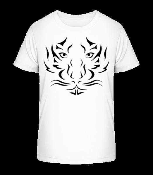 Tiger Head - Detské Premium Bio tričko - Biela - Predné