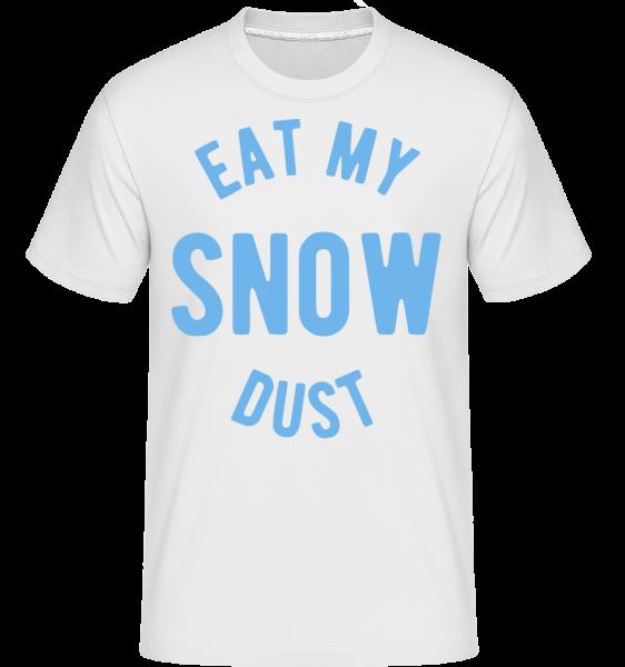 Jesť My Snow Dust - Shirtinator tričko pre pánov - Biela - Predné