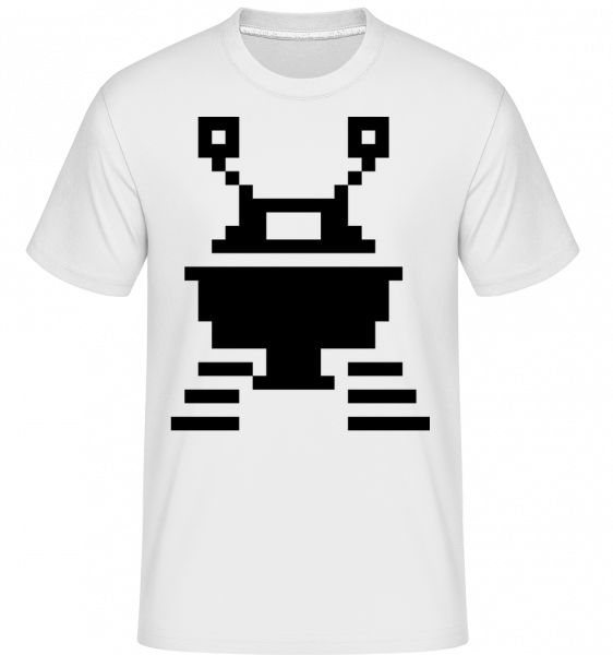 pixel UFO -  Shirtinator tričko pre pánov - Biela - Predné