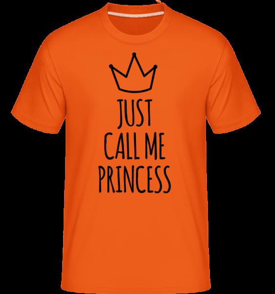 Just Call Me Princess -  Shirtinator tričko pre pánov - Oranžová - Predné