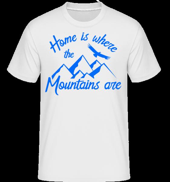 Home je miesto, kde sú hory -  Shirtinator tričko pre pánov - Biela - Predné