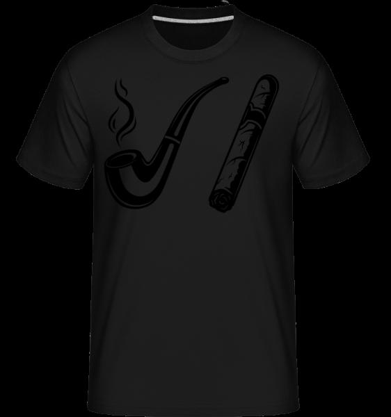 Rúrka a cigary - Shirtinator tričko pre pánov - Čierna - Predné