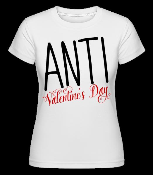 Day Anti Valentína -  Shirtinator tričko pre dámy - Biela - Predné