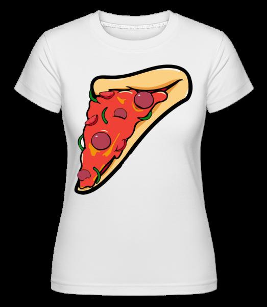 pizza Časť - Shirtinator tričko pre dámy - Biela - Predné