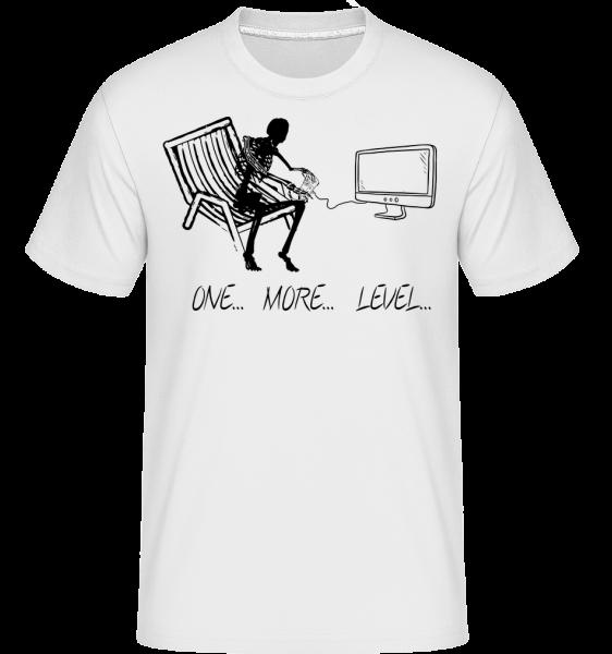 One More Level - Shirtinator tričko pre pánov - Biela - Predné